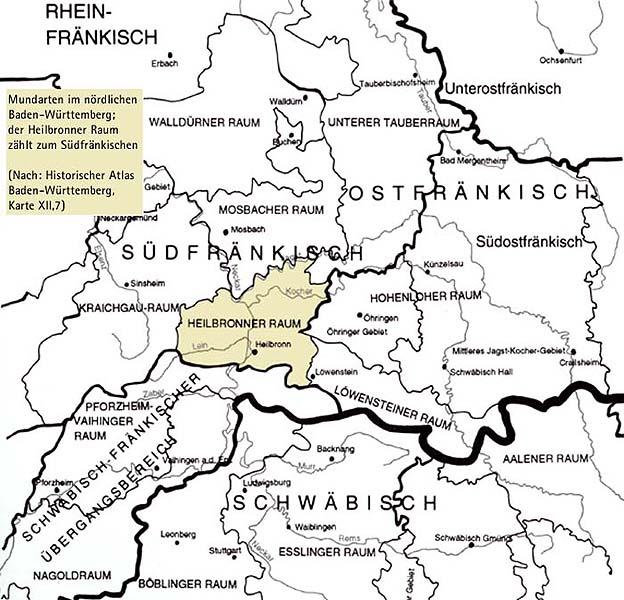 Region Heilbronn Franken Karte.Franken Oder Schwaben